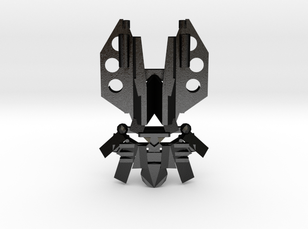 The Mask of Space Time Manipulation in Matte Black Steel