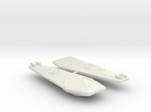 3788 Scale Hydran Knight Destroyers (2) CVN in White Natural Versatile Plastic