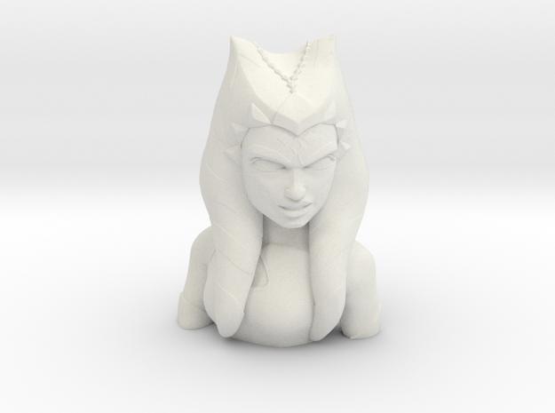 Ahsoka Tano Bust in White Natural Versatile Plastic