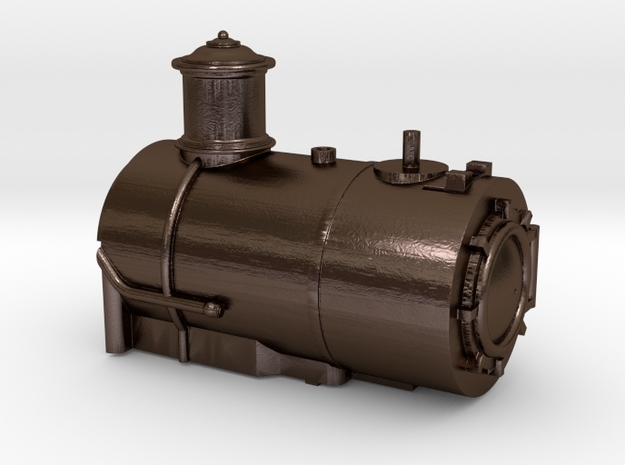 Fluted Middle Dome Boiler for the HOn30 Coffee Cre in Polished Bronze Steel