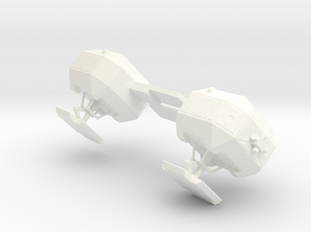 8 Inch Eagle Kit Rear Pods (part #6) in White Processed Versatile Plastic