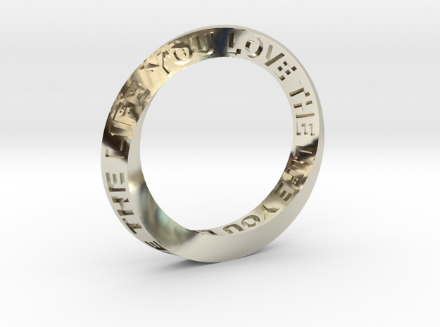 Live The Life You Love - Mobius Ring