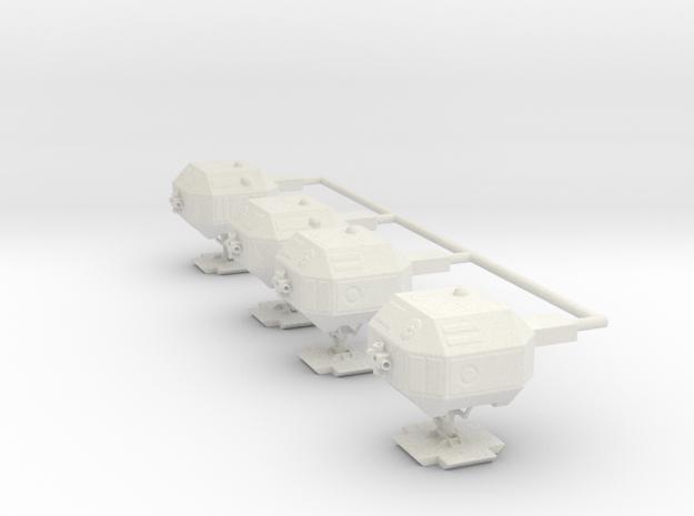 "8"" Eagle Pods (Part #2 for 8"" Kit-set of 4) in White Natural Versatile Plastic"