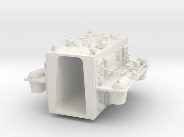 "Rear insert for 12"" Eagle Kit! in White Natural Versatile Plastic"