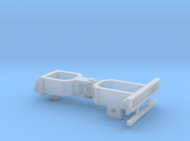 Booster Dolly - Single Axle in Smooth Fine Detail Plastic