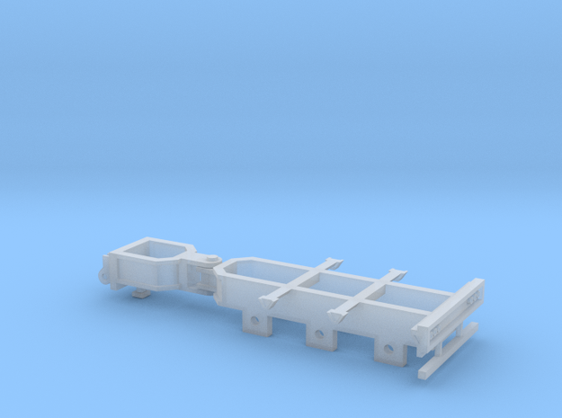 Booster Dolly - 3 Axle in Smooth Fine Detail Plastic