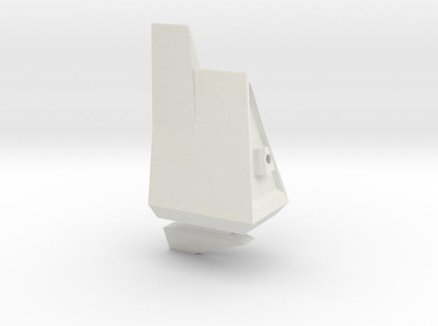1/1000 Eta Lyrae Light Cruiser Main Body  (part #2 in White Natural Versatile Plastic