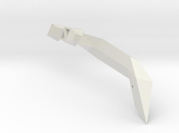1/1000 Eta Lyrae Light Cruiser RIGHT nacelle (part in White Natural Versatile Plastic