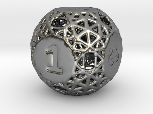 A-die-is-cast in Polished Silver
