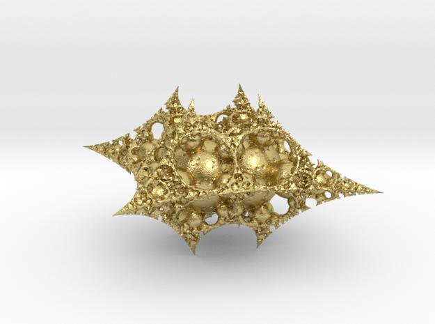Fractal ornament 5 in Natural Brass