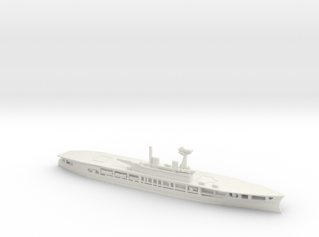 British Aircraft Carrier Eagle in White Natural Versatile Plastic: 1:600