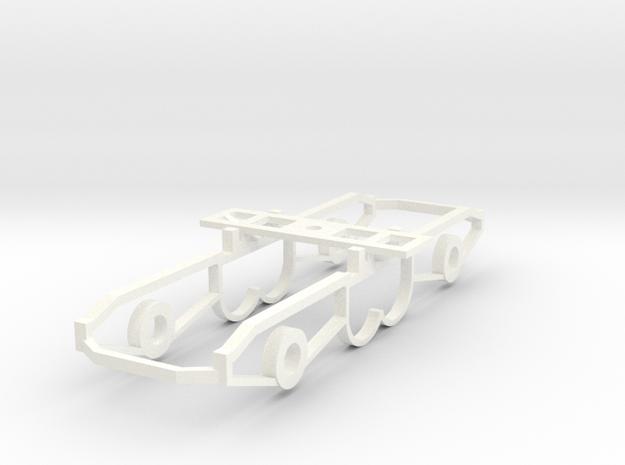 1:32 Class 25/3 Bogie inner in White Processed Versatile Plastic