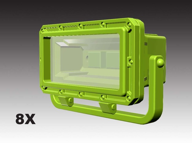 XF range floodlights - 1:50 - 8X in Smooth Fine Detail Plastic
