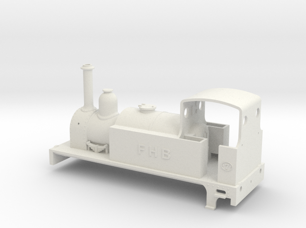 Neilson 2-2-2T tank engine in White Natural Versatile Plastic