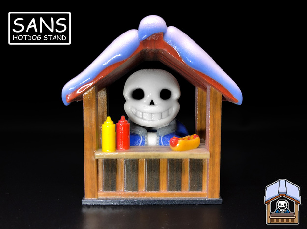 Sans Hotdog Stand - Undertale Figure / Ornament in Glossy Full Color Sandstone