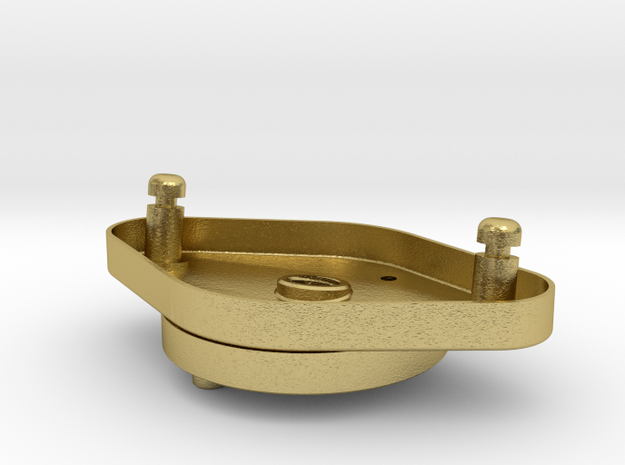 Starterplatte, erste Version / Starterplate, first in Natural Brass