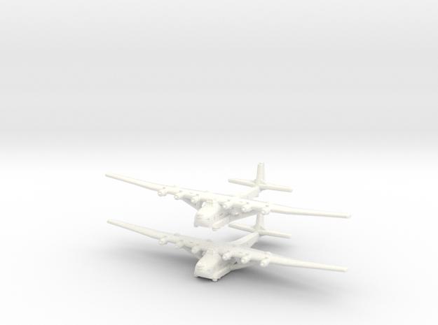 Me-323 E2/WT German Gunship -1/700-x2 in White Processed Versatile Plastic