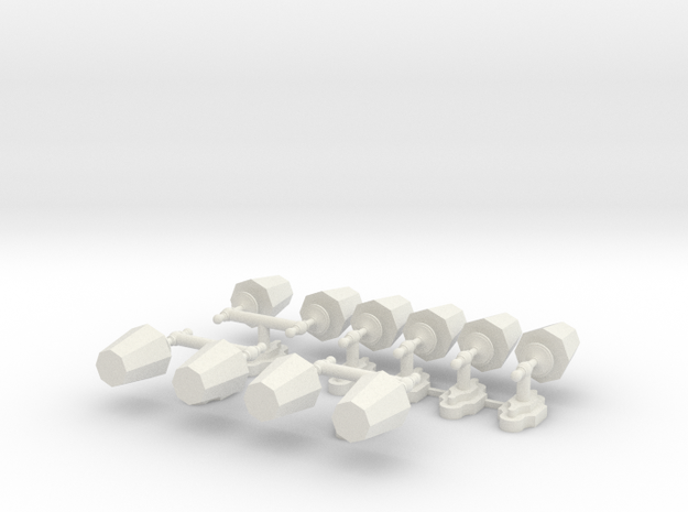 Wall Lamps - Set in White Natural Versatile Plastic