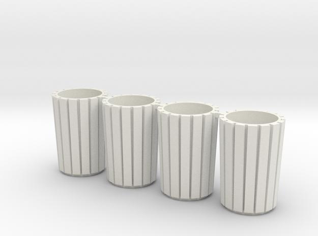 Bins - Set in White Natural Versatile Plastic