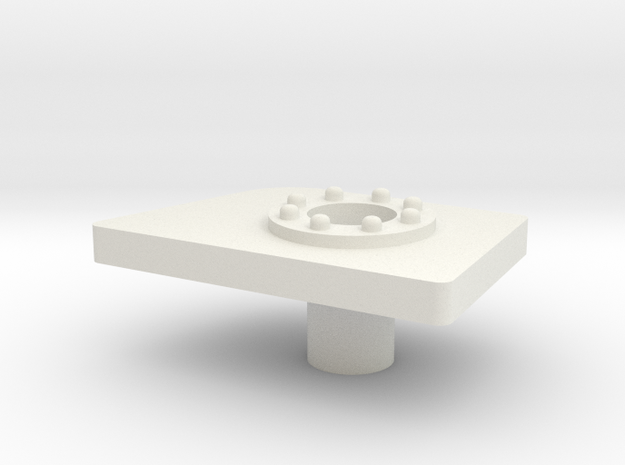 Gas panel right (MH) in White Natural Versatile Plastic