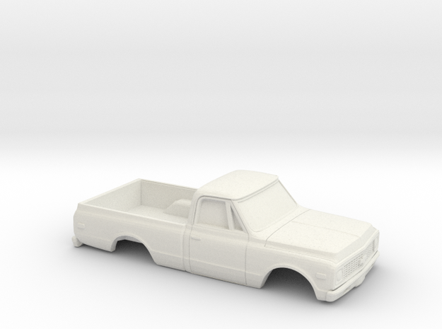 1/32 1970-72  Chevy C-Series Short Bed Shell in White Natural Versatile Plastic
