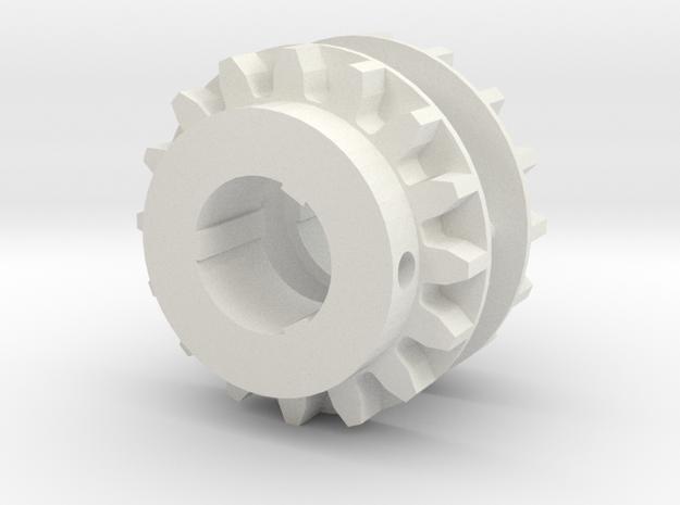 AZIMUTH THRUSTER - Thruster Gear V2.0 in White Natural Versatile Plastic