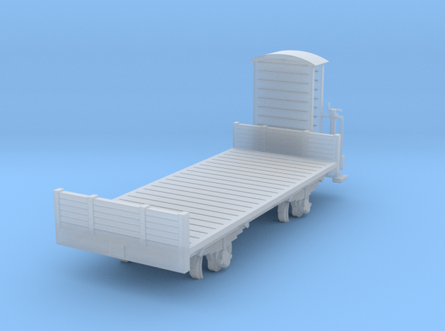 Flat car H0m in Smooth Fine Detail Plastic