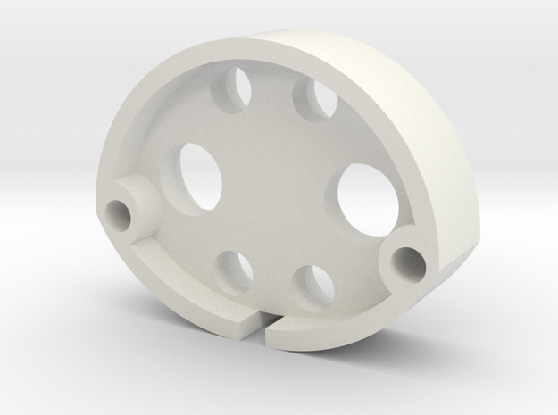 Jason S: Emitter Adaptor in White Natural Versatile Plastic