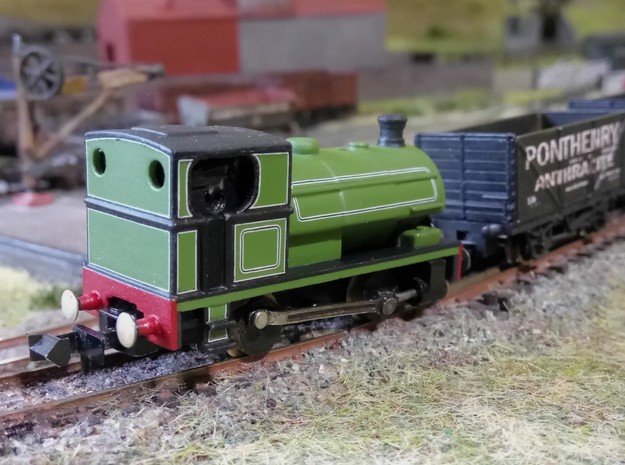 N Gauge Peckett E/W Class 0-4-0 in Smoothest Fine Detail Plastic: Small