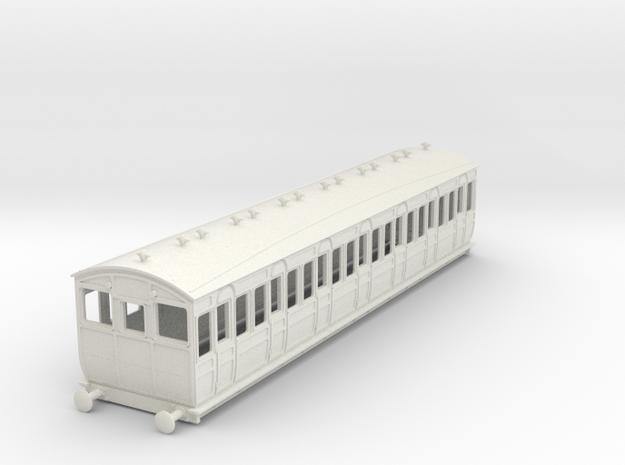 o-76-met-ashbury-bogie-third-class-driver-coach in White Natural Versatile Plastic