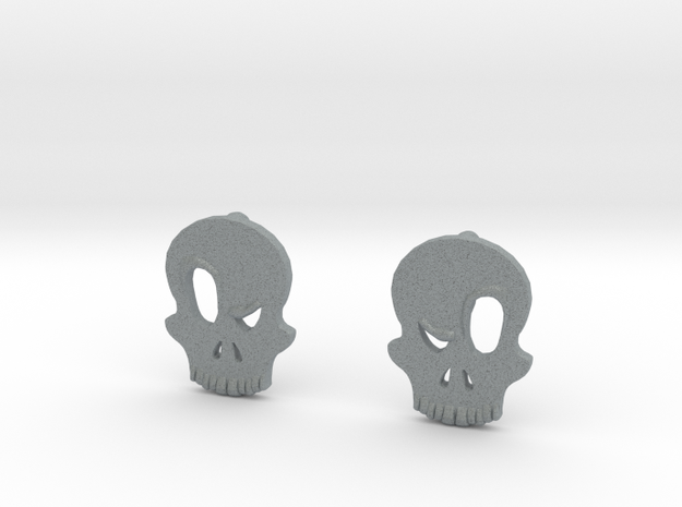 Eyebrow Skull Earrings 3d printed