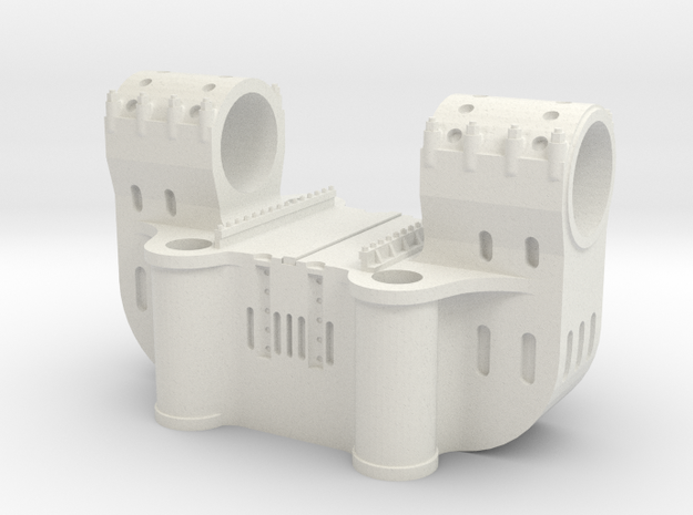 Bethlehem Steel Double Bearing Casting in White Natural Versatile Plastic: 1:64 - S