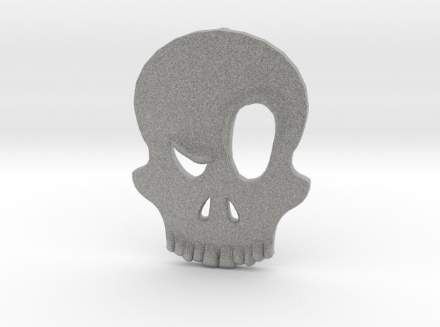 Eyebrow Skull Pendant (Small) 3d printed