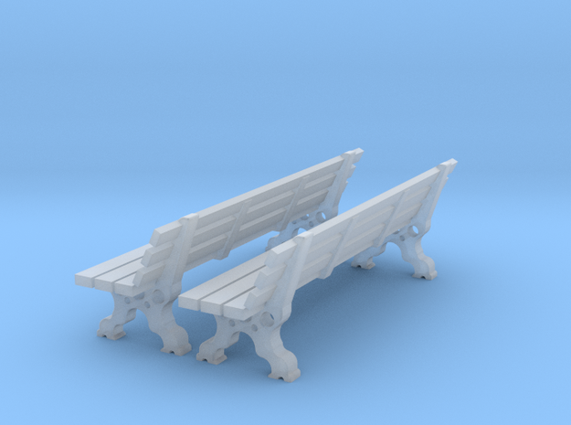 bancs HO 24 mm long  2 pieces in Smooth Fine Detail Plastic: 1:87 - HO