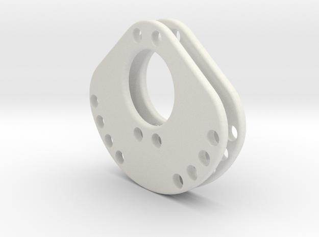 OD45-SUPPORT LEST -V4- BULLYV2-X2 in White Natural Versatile Plastic