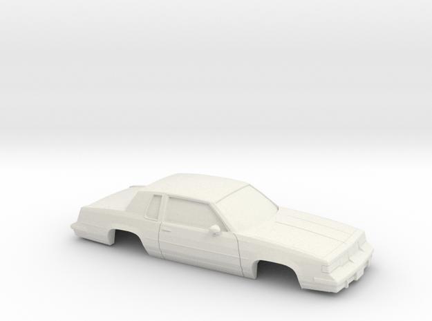 1/43 1987-88 Oldsmobile Cutlass Supreme in White Natural Versatile Plastic