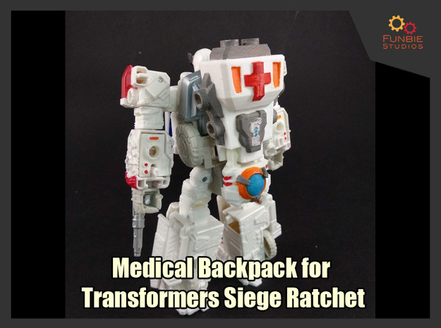 Medical Backpack for Siege Ratchet in White Processed Versatile Plastic