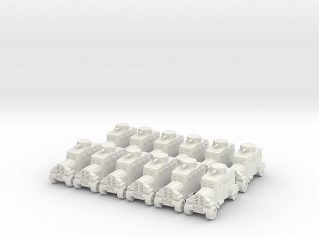 Ehrhardt EV-4 Armored Car x12 - Small in White Natural Versatile Plastic