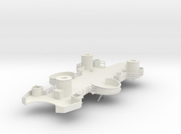 1/144 USS BB59 1st Level Abv.House in White Natural Versatile Plastic