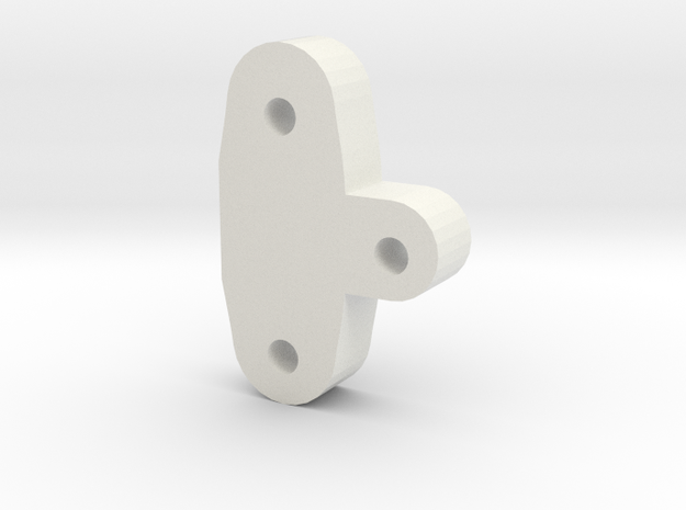 TRIKE 1.0 C-Hub height spacer 6mm in White Natural Versatile Plastic