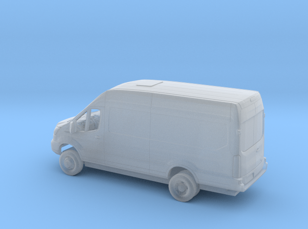 1/87 2018 Ford Transit High Extended Cargo Van Kit in Smooth Fine Detail Plastic