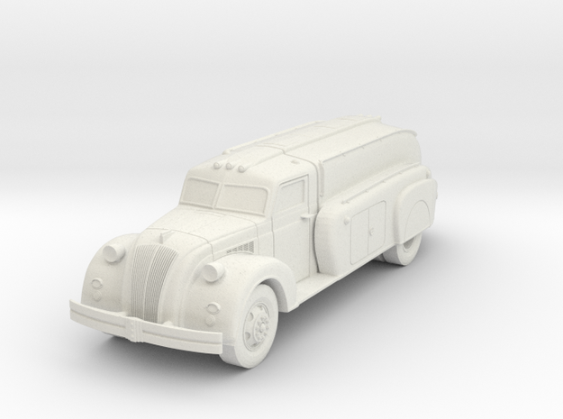 1938 Dodge Airflow Tank Truck in White Natural Versatile Plastic