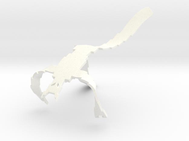 VideoMan Medium in White Processed Versatile Plastic