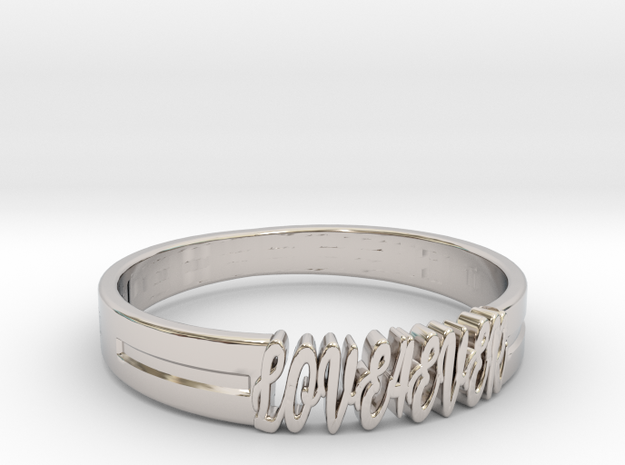 Love Forever Ring 3D Model STL KTkaRAJ in Rhodium Plated Brass