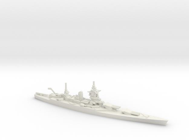 French Dunkerque-Class Battleship in White Natural Versatile Plastic: 1:1800