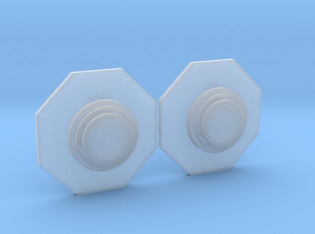 Artoo De Ago's 1:2.3 octagon ports, blank in Smooth Fine Detail Plastic