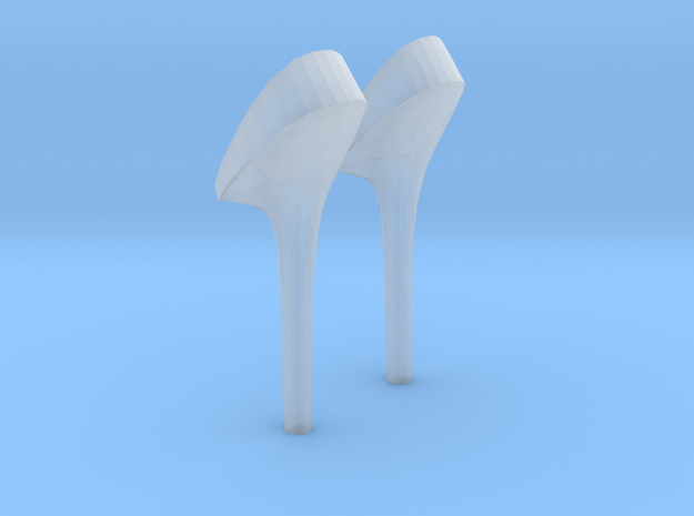 girl-heel2 in Smooth Fine Detail Plastic