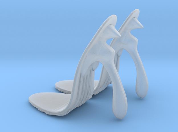 girl-sole base+heel egg1 in Smooth Fine Detail Plastic