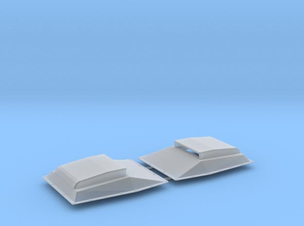 MOPAR hood scoop V2 x2 1/24 in Smooth Fine Detail Plastic