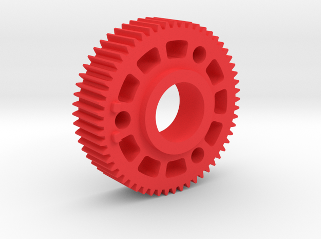 "Preston Standard 0.8 Module Gears. 1/2"" long in Red Processed Versatile Plastic"